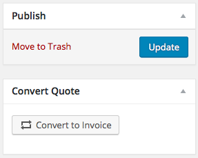Sliced Invoices - Convert quote to invoice