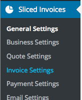 Sliced Invoices - General Settings