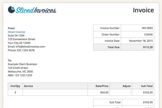 Reliefworkersus  Surprising Sliced Invoices  A Wordpress Invoice Plugin With Entrancing Slicedinvoicesexampleinvoice With Charming Receipt For Potato Soup Also Rental Receipt Book In Addition Square Register Receipt Printer And Best Stores To Return Without Receipt As Well As Tax Deductible Receipt Template Additionally Receipt Number Green Card From Slicedinvoicescom With Reliefworkersus  Entrancing Sliced Invoices  A Wordpress Invoice Plugin With Charming Slicedinvoicesexampleinvoice And Surprising Receipt For Potato Soup Also Rental Receipt Book In Addition Square Register Receipt Printer From Slicedinvoicescom
